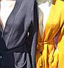 Кардиган женский с поясом карманы, фото 2