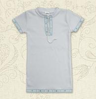 """Сорочка для крещения """"Крістіан-2"""" короткий рукав ТМ Бетис, интерлок"""