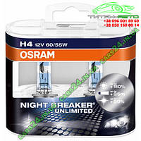Галогенная лампа Osram H4 12V 60/55W P43T-3 OSR64193 NBU-DUO Night Breaker Unlimited +110% к-т 2 шт, фото 1