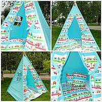 """Детский игровой домик, вигвам, палатка, шатер, шалаш """"Машинки"""", фото 1"""
