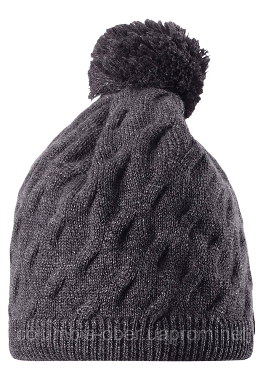 Зимняя шапка с помпоном для мальчика Reima 528496-9400. Размер  52-56.