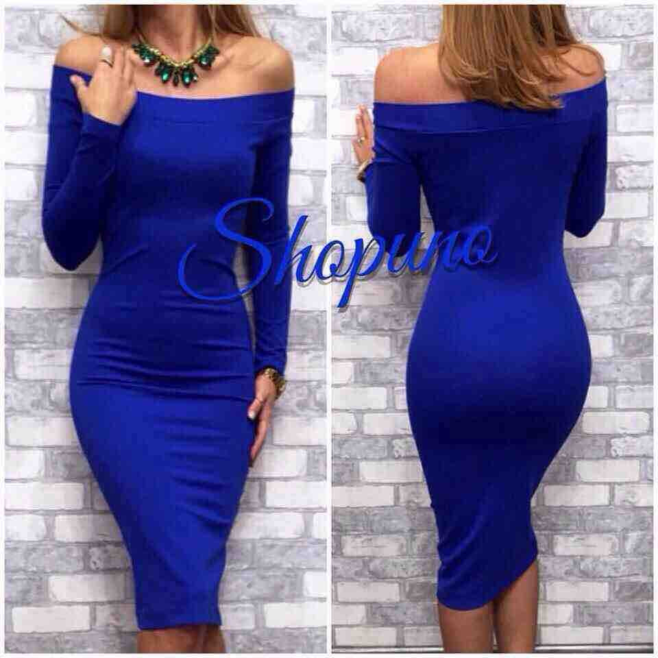 Платье спадающий рукав