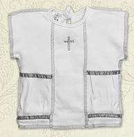 """Сорочка для крещения """"Міні Мальчик"""" короткий рукав ТМ Бетис, интерлок"""