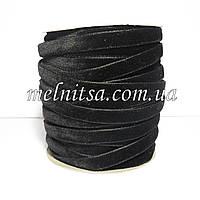 Лента бархатная 1 см, цвет черный