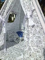 "Детский игровой домик, вигвам, палатка, шатер, шалаш,  вігвам, дитяча ігрова палатка, будиночок ""Носороги"", фото 1"