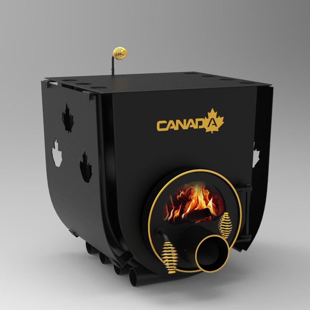 """Булерьян печь """"Canada"""" с перфорацией и стеклом мощностью 12 кВт"""