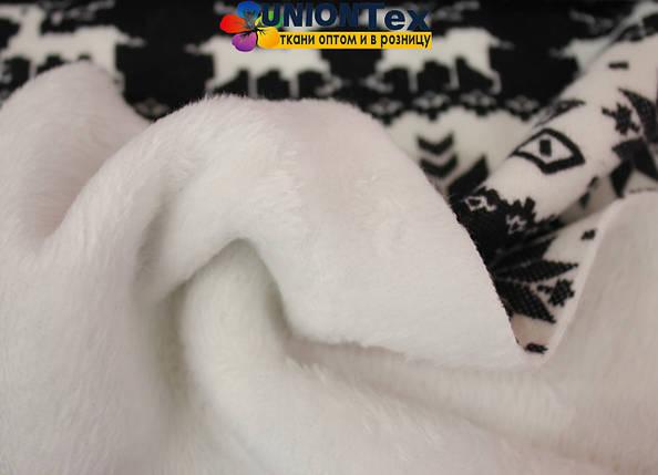 Ангора трикотаж на меху принт , фото 2