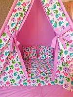 """Детский игровой домик, вигвам, палатка, шатер, шалаш """"Птички"""", фото 1"""