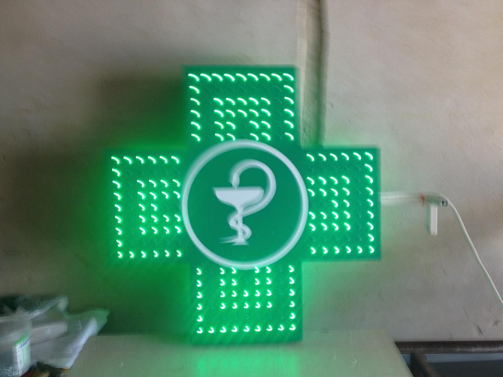 Изготовили другой светодиодный аптечный крест для Черкас. 1