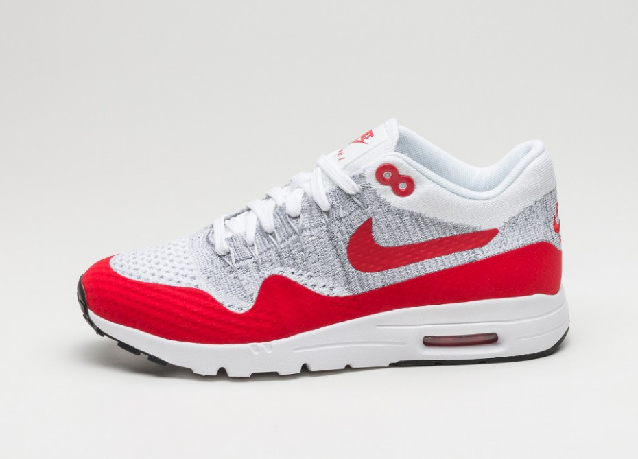 "Кроссовки Nike Air Max 87 Ultra Flyknit ""White/Red/Grey"""