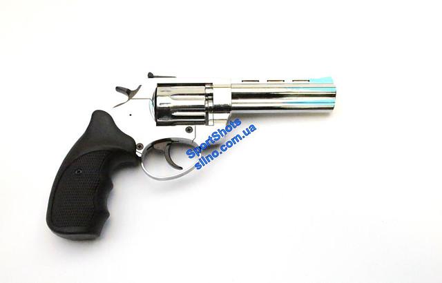 """Револьвер Trooper 4.5"""" сталь хром пласт/чёрн"""