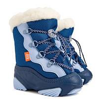 Детские зимние сапоги-дутики Демар SNOW MAR голубые р.20-29 теплющие на любые ножки по полноте и по