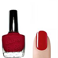 OOPS! Лак для ногтей с эффектом гель-лака (красный) глянцевый/матовый № 13
