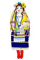 """Кукла сувенирная керамическая """"Галинка"""" (желтый пиджак и синяя юбка)"""