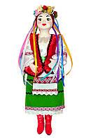 """Кукла сувенирная керамическая """"Галинка"""" (красный жилет и зеленая юбка)"""