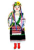 """Кукла сувенирная керамическая """"Галинка"""" (зеленый жакет и черная юбка)"""