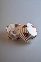 Тарталетки бумажные для кексов Божьи коровки