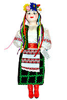 """Кукла сувенирная керамическая """"Оксана"""" (зеленый пиджак и черная юбка)"""