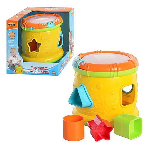 Игра 0713-01   обучающая,барабан,сортер,муз,звук ,свет,на бат-ке,в кор-ке,18,5-18,5-18,5см