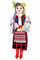 """Кукла сувенирная керамическая """"Оксана"""" (красный пиджак и черная юбка)"""