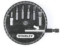 Биты в наборе  7 ед. (S 4.5мм, 5.5мм, 6.5мм - Pz 0, 1, 2 + держатель)      STANLEY 1-68-738