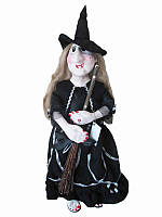 Кукла-оберег Баба-Яга (черная шляпа) (Куклы)