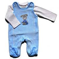Комплект (ползуны высокие+кофточка) Jacky, голубой 50-62