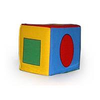 "Кубик - погремушка ""Геометрические фигуры"" Умная игрушка 123"