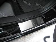 Накладки на пороги Mitsubishi Colt 6 (5 дверей) (2003-2008) (Nat) Premium
