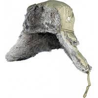 302764-XL шапка-ушанка на нат. меху зелёная Norfin