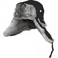 302766-L шапка-ушанка на нат. меху чёрная Norfin