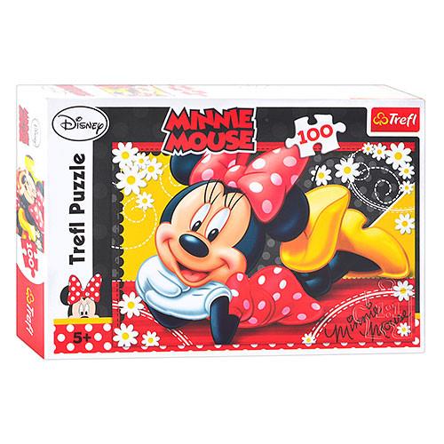 Пазлы 16193  Trefl, Disney Minnie, Веселая Минни, 100дет, в кор-ке, 28,5-19-4см