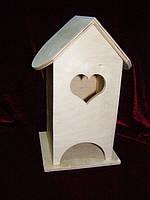 Чайный домик для декупажа сердечко (10 х 10 х 23 см)