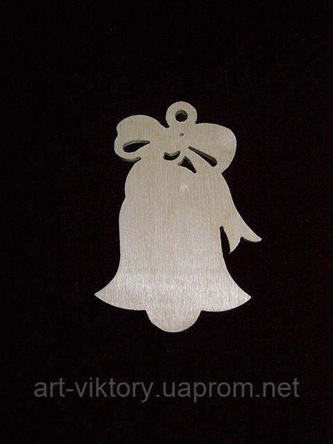 Колокольчик с бантиком (7,5 х 11 см)