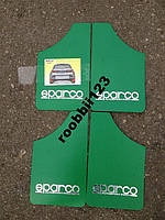Брызговики ВАЗ 2101 2105 2106 2107 sparco (4шт) зеленые