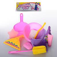 Набор для уборки 979-32  миска,щетка,совок,ершик,губка,моющие средства,в кульке,25,5-34-6см