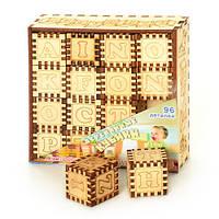 Деревянная игрушка Кубики  0007  Английская Азбука