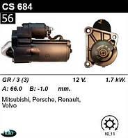 Стартер  Renault  Kengoo  Megane 1. 9 2. 0 /1, 7кВт z11/ CS684