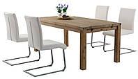 Комплект кухонный большой  (стол 180 см + 4 стула белых)