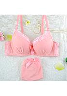 Розовый комплект женского белья