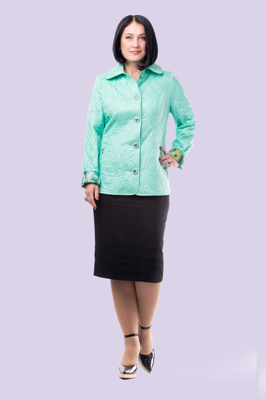 Модная легкая куртка для женщин стеганная большого размера 50-62, фото 1