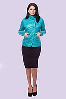 Легкая короткая стеганная женская куртка размера 48-56, фото 1
