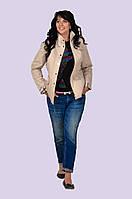 Модная демисезонная стеганная куртка с воротником стойка размера 48-54, фото 1