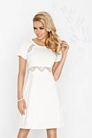 Женская белая сорочка из вискозы Fabia TM Dkaren (Польша)