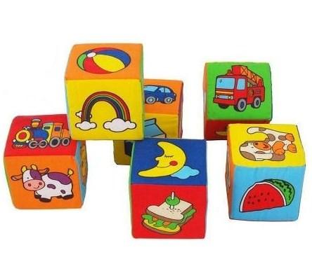 Iграшка-кубик розвиваюча м'яка 6шт.