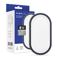 Светодиодный светильник GLOBAL HPL 8W 5000K овал ЖКХ