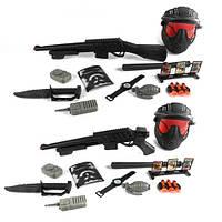 Набор полицейского 8911-12 (72шт) автомат44см, присоски, дубинка, шлем, 2 вида, в сетке, 44-13-5см