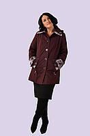 Женская демисезонная куртка из плащевки большого размера 52-62, фото 1