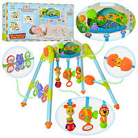 Тренажер детский 906 (6шт) 3в1,муз,звук(англ), свет, подвески 3шт, на бат-ке, в кор-ке, 63,5-38-15см