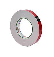 Двусторонний скотч 19 мм*10 м клейкая лента на вспененной основе белая, фото 1